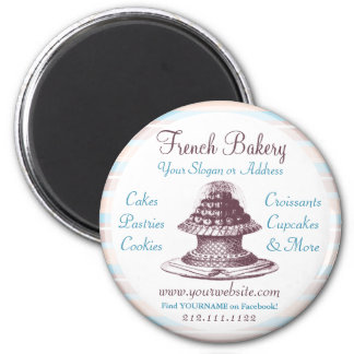 French Bakery Vintage Cakes Old-Fashioned Magnet