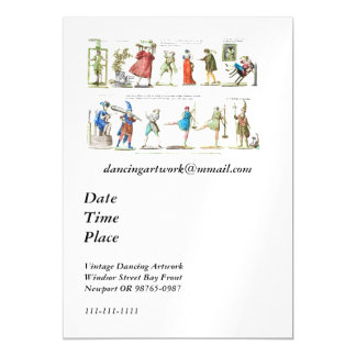 French Ballet Characters Vintage Magnetic Card