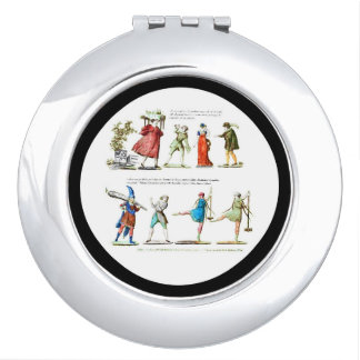 French Ballet Scene Vintage Compact Mirror