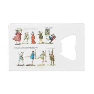 French Ballet Scene Vintage Credit Card Bottle Opener