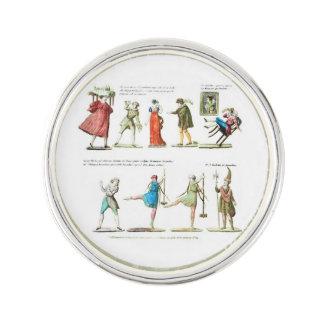 French Ballet Scene Vintage Pin