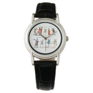 French Ballet Scene Vintage Wrist Watch