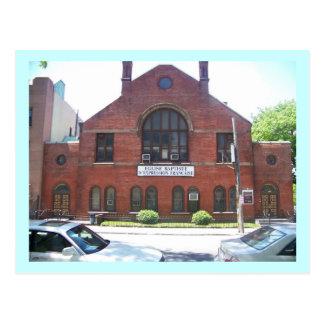 French Baptist church in Clinton Hill, Brooklyn Postcard