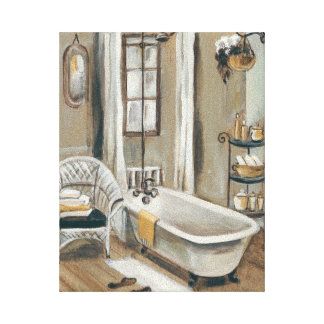 Bathroom Canvas Prints Bathroom Wrapped Canvas Photo Print Zazzle
