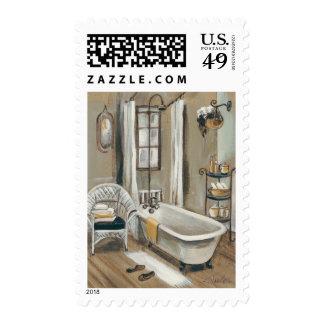 French Bathroom with Bathtub Postage