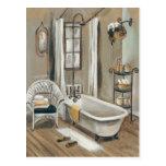 French Bathroom with Bathtub Postcard