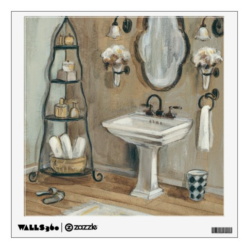bathroom sink decals bathroom with mirror and sink wall decals zazzle 11319