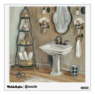 French Bathroom with Mirror and Sink Wall Decals