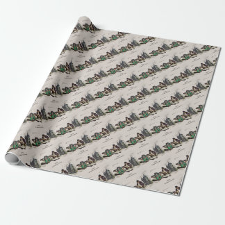 French Bats on a Date Wrapping Paper