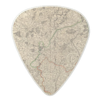 French battlefields and roads acetal guitar pick