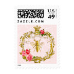 French Bee and Royal Crown Postage Stamps