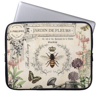 FRENCH BEE GARDEN COMPUTER SLEEVE
