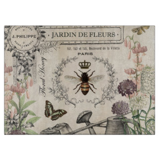 FRENCH BEE GARDEN CUTTING BOARD