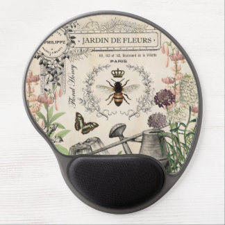 FRENCH BEE GARDEN GEL MOUSE PAD