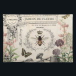 """FRENCH BEE GARDEN PLACEMAT<br><div class=""""desc"""">Modern Vintage French Bee Garden</div>"""