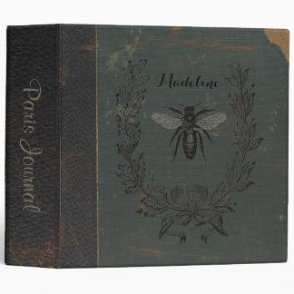 French Bee Monogram Binder