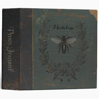 French Bee Personalized Binder