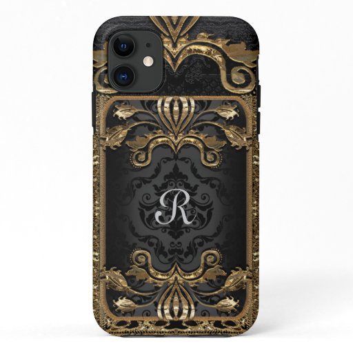 French Bella Elegant Boho Goth Chic Monogram iPhone 11 Case