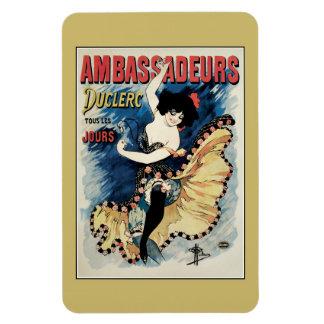 French belle epoque café chantant ambassadors ad rectangular photo magnet