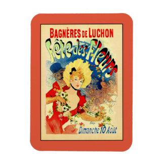 French belle epoque flowers festival Luchon Rectangular Photo Magnet