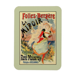 French belle epoque mime theatre advertising rectangular photo magnet