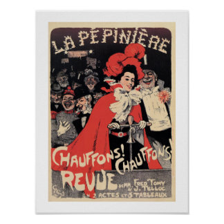 French Belle epoque musical revue ad Heat It Up Print