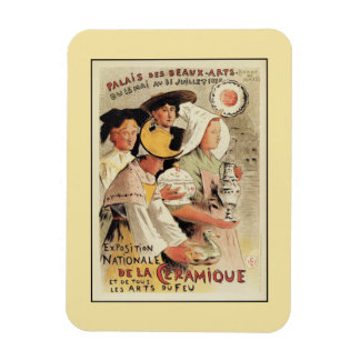 French belle epoque pottery expo advertising rectangular photo magnet