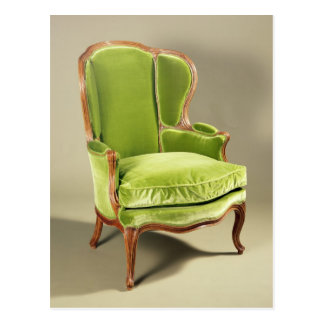 French bergere chair, c.1725 postcard