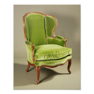 French bergere chair, c.1725 poster