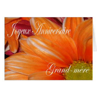 French Birthday Card For Grandmother