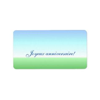 French Birthday Green Blue Label