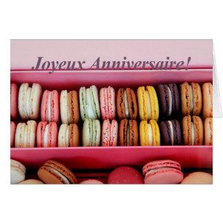 French Birthday Macaron-Joyeux Anniversaire! Card