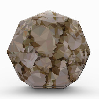 French Bistre Brown Abstract Low Polygon Backgroun Award