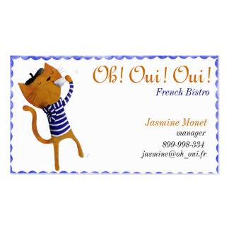 French bistro business card templates