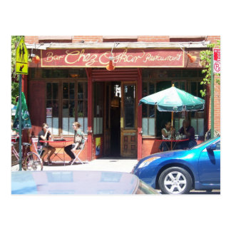 French bistro in Fort Greene Brooklyn Postcard