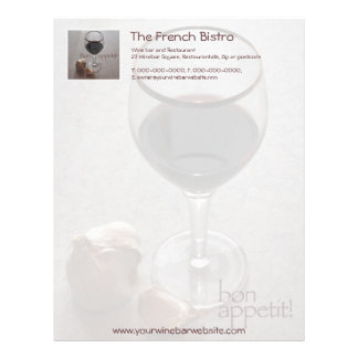 French bistro wine and garlic letterhead