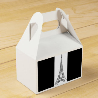 French Black Eiffel Tower Party Favor Boxes