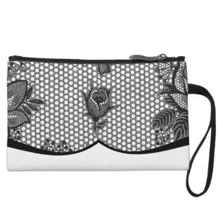 french black lace purse wristlets
