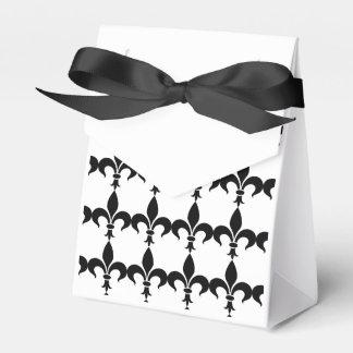 French Black & White Fleur de Lis Party Favor Box