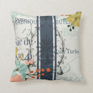French Bloom Throw Pillow