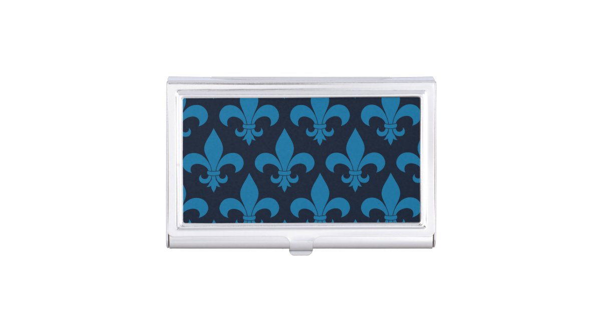 French Blue Fleur de lis Business Card Case | Zazzle.com