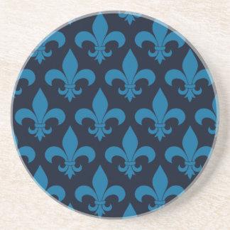 French Blue Fleur de lis Coaster