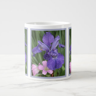 French Blue Iris Pink Large Coffee Mug