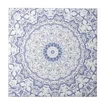 French Blue Lace Tile