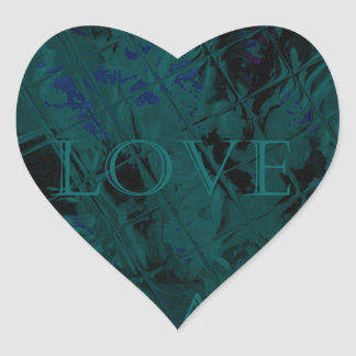 French Blue  Love Eat  Play Flower colors for all  Heart Sticker