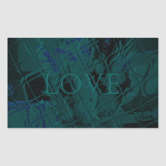 French Blue  Love Eat  Play Flower colors for all  Rectangular Sticker