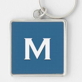 French Blue Monogram M Keychain Gift