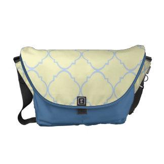 French Blue Pastel Quatrefoil Courier Bag