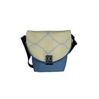 French Blue Pastel Quatrefoil Courier Bags