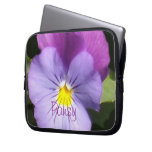 French Blue Purple Pansy Laptop Sleeve